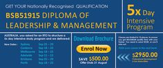 Save $500 by enrolling now for our nationally recognised Diploma of #Leadership & Management. #diplomaleadershipcourse