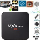 GooBang Doo MXQ Pro Android TV Box 64 Bit Amlogic S905 Android 5.1 Lollipop OS with Fully Loaded Kodi Apps GooBang Doo Cleaning Cloth and Support Card