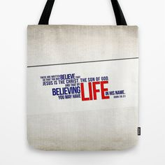 Life in His Name Tote Bag by Peter Gross - $22.00