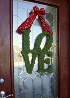 Valentine Wreath. Valentines Day Wreath. Moss by PrivilegedDoor