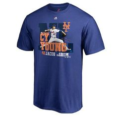 Show Jacob deGrom your support with this eye-catching Majestic New York Mets 2018 NL Cy Young Award T-Shirt. It features vivid Jacob deGrom graphics that celebrate a major moment in his MLB career! Cy Young Award, Fan Store, New York Mets, News, Special Events, Mens Tops, T Shirt, Shopping, Vintage