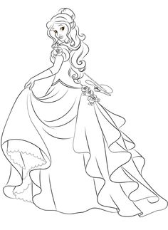 Lineart - Glamorous Fashion Belle by selinmarsou on deviantART