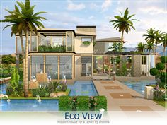 Eco View house by Lhonna at TSR via Sims 4 Updates