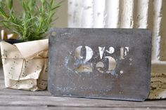 Vintage French Tin Number Stencil