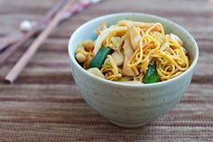 Chicken Chow Mein, I used yakisoba noodles and really like this~ I think I could sub in GF noodles and have it come out just as good! We really like this here!