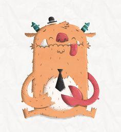 Monster Illustration designed by Luke Tudor. Monster Illustration, Monster Characters, Healthy Living Magazine, Diy Entertainment Center, Parents As Teachers, Rooster, Character Design, Entertaining, Artist