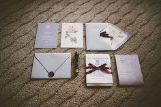 Custom Handkerchief Wedding Invitation