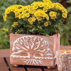 As we hope and prepare for the warm weather ahead, don't forget to decorate the yard with some Fairly Traded Items!  Check out SERRV.org for more planters made by the Jute Works women and learn more about who makes our products!
