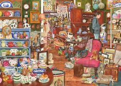 """""""Den Of Antiquity"""" ~ a 1000 piece jigsaw puzzle  by The House Of Puzzles. Artist: Tracy Hall"""