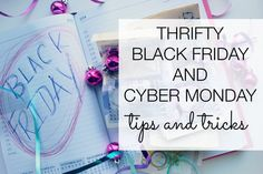 A Thrifty guide to Black Friday and Cyber Monday