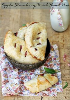 Apple Strawberry Basil Hand Pies