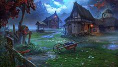 D&d Fantasy Village Art 3