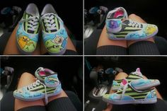 adventure time shoes. I WANT THESE! WHERE DO YOU GET THEM!!!!! Adventure Time Shoes, Fashion Line, Running Shoes, Swag, Good Things, My Style, Sneakers, Music, Ideas