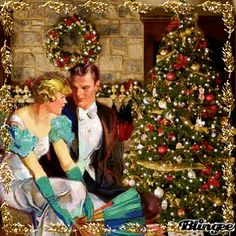 Christmas Vintage couple ♦for challenge♦ Picture #118690902 ...