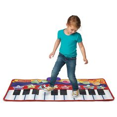 <ul><li>4 feet of musical fun!</li><li>19 step-on piano keys</li><li>4 different modes: Record, playback, demo and rhythms</li><li>8 musical instrument sounds</li><li>11 built-in demo songs</li><li>MP3 player compatible</li><li>Included MP3 cable</li></ul>