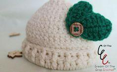 20 FREE Crochet Leaf Patterns for Every Season: Baby Leaf Hat Free Crochet Pattern