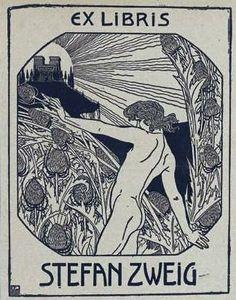 Ex libris Stefan Zweig - Ephraim Moses Lilien - Wikipedia, the free encyclopedia Ex Libris, London Tumblr, Art Nouveau, Stefan Zweig, Jewish Museum, Pop Art, The Draw, Book Images, Illustrations