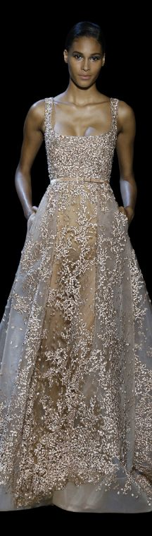 Elie Saab Haute Couture / Fall - Winter 2014 - 2015... no accessories required.  Beautiful