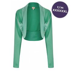 Bolero top met lange mouwen pastel groen - Vintage, 50's, Rockabilly