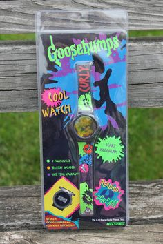 8f35b344a41 Super Cool Vintage Goosebumps 5 Function Wrist Watch by Nelsonic - In  Original Packaging - R.L. Stine