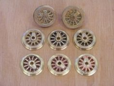 Model Locomotive wheels cast with microfoundry CompUCut - Home Foundry and CNC machines & accessories