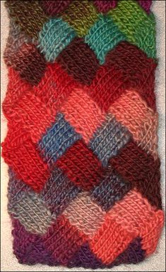 Knitting tutorial - Entrelac Scarf