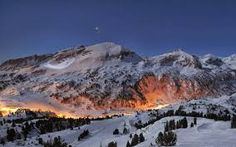 snowy mountains at night - Google Search