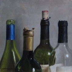 """Daily Paintworks - """"Uncorked Tops"""" - Original Fine Art for Sale - © Michael Naples"""