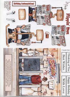 LA PASHE - FLIPPIN Free Printable Christmas Cards, Parchment Design, Paper Doll House, 3d Printing Diy, Decoupage Printables, 3d Sheets, Image 3d, Boy Cards, Art Impressions