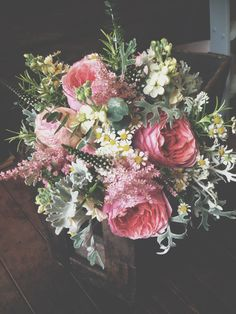 Country vintage bridal bouquet.