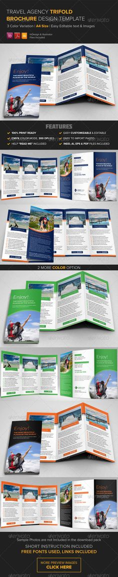 Travel Brochure  Trifold  Travel Brochure Indesign Templates