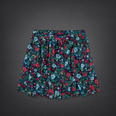 Hollister Chiffon Skater Skirt- Hollister. Would look great with the sweater!