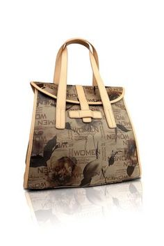Trendy print shoulder bag (tuscan earth)