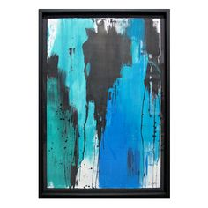 """""""Fontelina XXI"""" By Jenna Snyder-Phillips  Blue, black and green abstract painting on paper."""