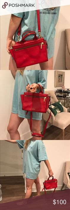 Kate Spade (Saturday) Crossbody This Kate Spade limited edition Saturday crossbody is the perfect size and such a great color! Gently used, I've loved having this purse! (The penny inside of the purse is included! It's heads up, promise!) kate spade Bags Crossbody Bags