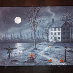 Halloween Scene, Halloween Home Decor, Halloween House, Halloween Art, Holidays Halloween, Halloween Themes, Vintage Halloween, Happy Halloween, Halloween Decorations