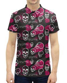 """Рубашка Поло с полной запечаткой """"BigStink skull and roses"""" от Franka - Printio"""