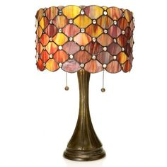 """Warehouse of Tiffany Tiffany Style Modern 22"""" Table Lamp Shade Color: Red"""