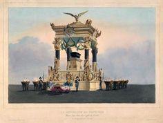 Catafalque of Napoleon Bonaparte by Rose Joseph Lemercier after Jean-Baptiste Arnout, 1840 (PD-art/old), Muzeum Narodowe w Warszawie (MNW)
