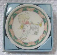 ENESCO Precious Moments Christmas Pageant Nativity Mini Plate Ornament 1993 #PreciousMoments