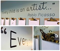 This quote + picture frames with clothes pins = art wall in our hallway :)