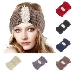 22ce75f8a0f Solid Color Faux Pearl Inlaid Crochet Headband Women Elastic Hair Band Soft   fashion  clothing  shoes  accessories  womensaccessories  hairaccessories  (ebay ...