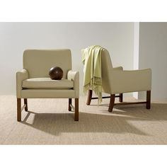 The Denmark Chair offers extraordinary comfort and a lean scale, available in dining and lounge chair size.  interior design, furniture, midcentury modern, scandinavian, contemporary, modern design, transitional, seating, living room, dining room, side chair, minimalist, arm chair, easy chair, Maxine Snider Inc.