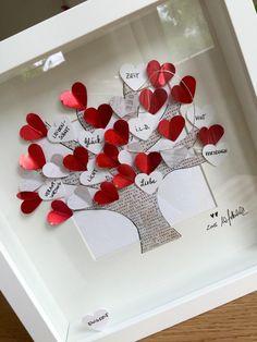 """Bild """"Baum der Liebe"""" UNIKAT incl. Rahmen und Passepartout Name oder Wunschtext Kann mit eingearbeitet werden! ❤️alle meine persönlichen Bilder sind unverwechselbar mit dem """"WG ART handmade..."""
