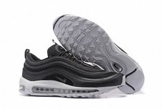 Newest Nike Air Max 97 CVS Black White Metallic Silver 505802 010 Men's Running Shoes Trainers