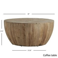 Hatteras Drum Reclaimed Woodblock Barrel Coffee Table SIGNAL HILLS - Free Shipping Today - Overstock.com - 18916768 - Mobile