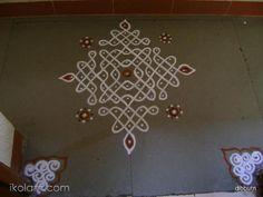 This is a small chiku kolam with dots 11 to straight dots Rangoli Designs Latest, Rangoli Designs Flower, Rangoli Patterns, Rangoli Border Designs, Rangoli Ideas, Rangoli Designs With Dots, Rangoli Designs Images, Kolam Rangoli, Rangoli With Dots