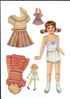 spent hours playing with paper dolls...