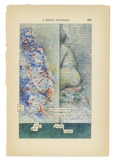 The Humument . Saw part of this ongoing work at the Perez Art Museum Miami. E Design, Book Design, Tom Phillips, Old Book Art, Perez Art Museum, Found Poetry, Poetry Art, Postcard Art, Writing Art