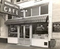 Courtesy of the Catsavis Collection The Manhattan Cafe stood on the south side of Garrison Avenue in the 600 block between the First National Bank and the old Hotel Main. Manhattan Cafe, Fort Smith Arkansas, Ol Days, Vintage Postcards, Will Smith, Fun Stuff, Restaurants, Old Things, Hotels